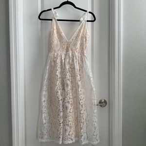 PrettyLittleThing Dresses - White Lacey Dress